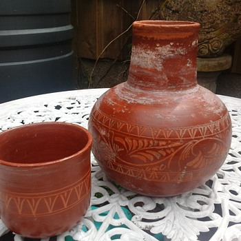 clay water bottle?? - Art Pottery