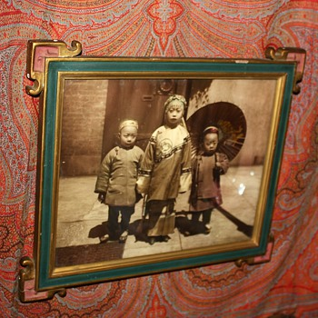 Etta Hortense Schulze Photo of Chinese Children in SF in a great frame  - Asian