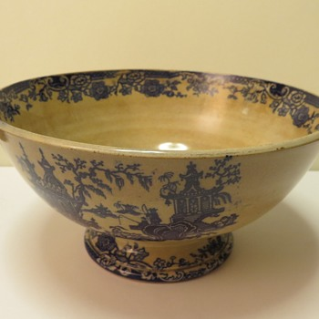 Antique Transferware Rum Butter Bowl