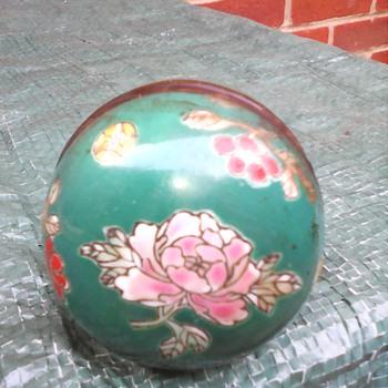 My opium pipe enamel bowl