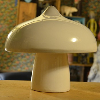 Ceramic Garden Mushroom - Another Mushroom Mystery! - Art Pottery