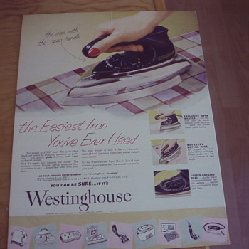 WESTINGHOUSE GLIDE IRON 1950's