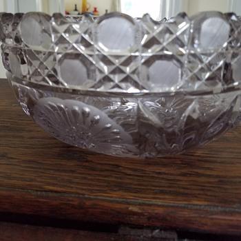 A.B.P . Cut crystal punch bowl? - Glassware
