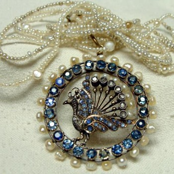 Antique Peacock Pendant - Fine Jewelry