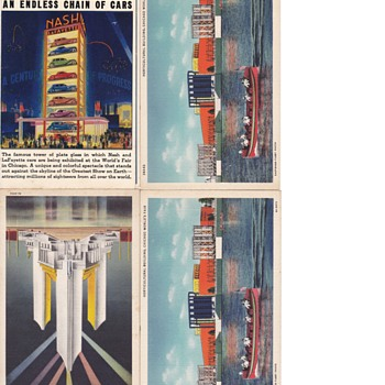 1933 Chicaco Worlds Fair Postcard Collection UNUSED - Postcards