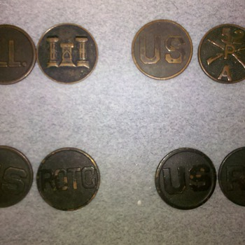 WWI U.S. Army Collar Disc collection ~group 2 - Military and Wartime