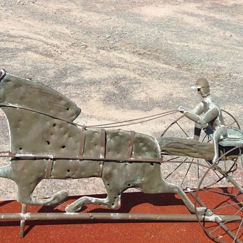 Copper Weathervane complete with bullet holes.. - Folk Art