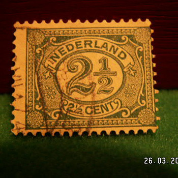 Vintage Nederlands 2 1/2 Cent Stamp ~ Used
