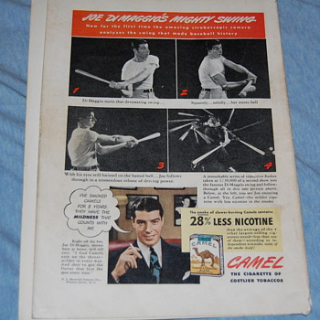 A few Joe Dimaggio items 1940 & 1942
