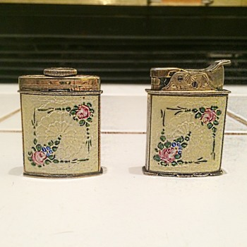 Ladies Evans Lighter Set ca 1930