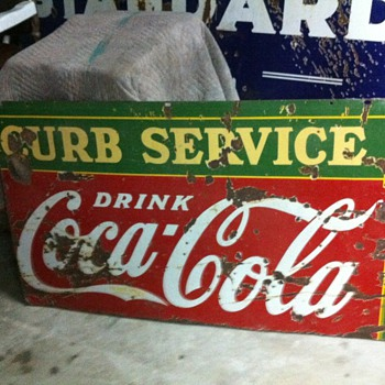 Coca Cola 1930's Curb service sign - Coca-Cola