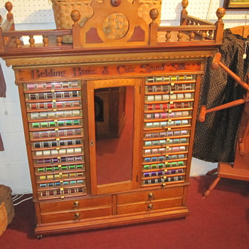 Belding Bros. Spool Cabinet Circa 1880s - Sewing