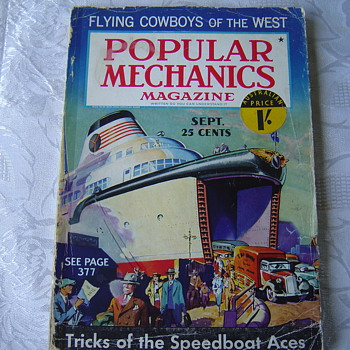 1936 popular mechanics magazine - Paper