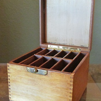 Old Box with Compartments - Tools and Hardware