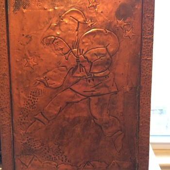 copper picture in hammered copper frame - Visual Art