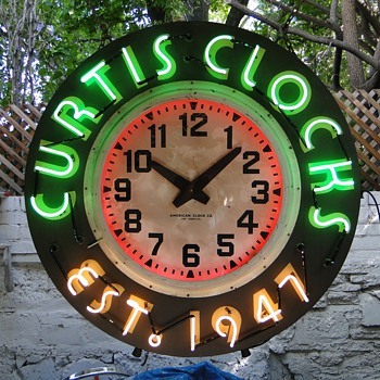 Huge 4 foot neon Clocks