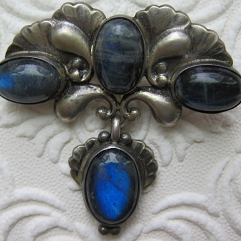 Georg Jensen Sterling Silver Brooch #152 - Art Nouveau