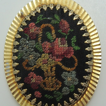 Floral Pendent Made in W. GERMANY - Costume Jewelry