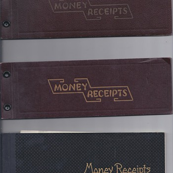 MONEY RECEIPTS, B OF A SAVINGS BOOKS - US Paper Money