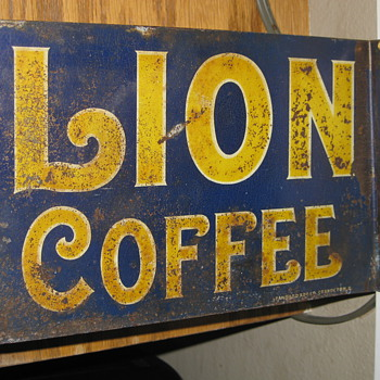Lion Coffee Flange Sign - Advertising