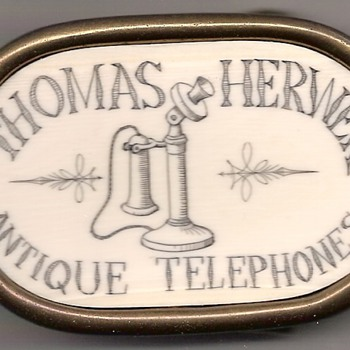 Scrimshaw Telephone Belt Buckle - Mens Clothing
