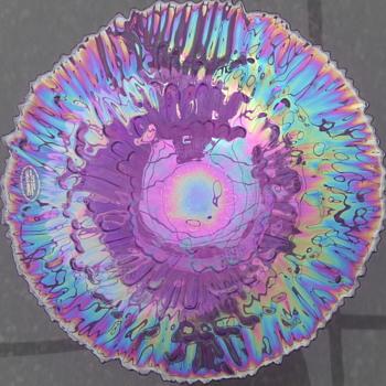 AKCAM Amethyst Flower Bowl - Art Glass