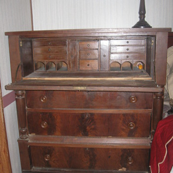 1857 Walnut Desk  - Furniture