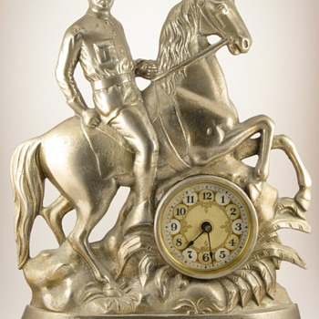 "Theodore Roosevelt ""Rough Riders"" Clock, ca. 1899 - Clocks"