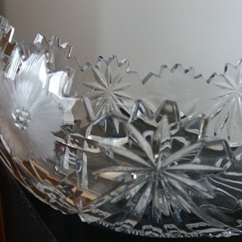 An old crystal bowl.