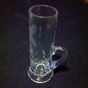 Handled Cut Glass Shot Glass - Glassware