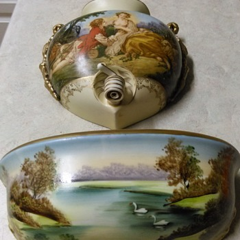 PORCELAIN WATER POCKET WALL FIXTURE - Art Pottery