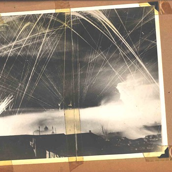 WW2 anti aircraft tracers europe .From my dads scrapbook - Military and Wartime