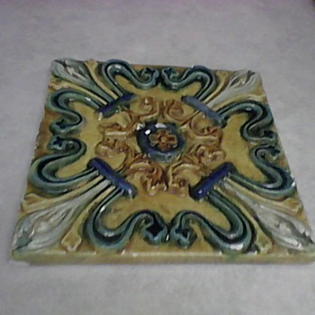MAJOLICA TILE - Art Pottery