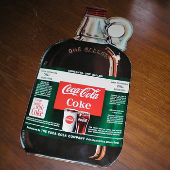 1960s Coca-Cola Syrup Jug Promotional Sales Piece