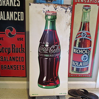 Coke Bottle Sign A.A.W.-12-48 - Coca-Cola