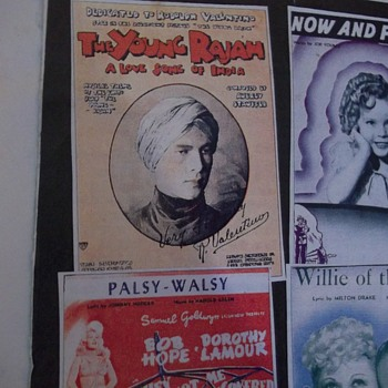 "RARE SILENT MOVIE SHEET MUSIC, ""THE YOUNG RAJA"", 1922-- RUDOLPH VALENTINO - Music"