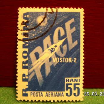 Vintage R.P. Romina (Romania) Posta Aeriana Bani 55 ~ Used - Stamps