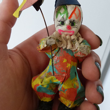 Vintage Paper Mache Clown