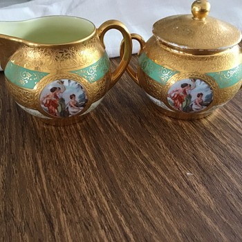 Bone China Hand Decorated with 24 Karat Gold