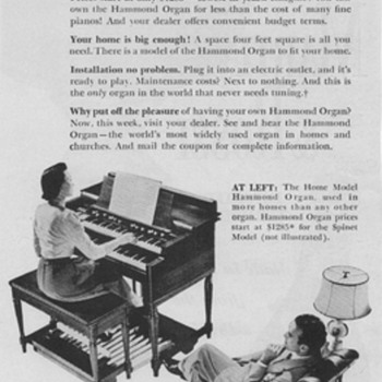 1950 Hammond Organ Advertisement - Advertising