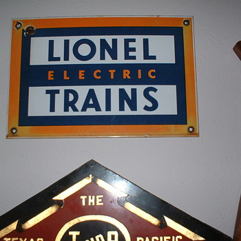 Lionel Train Sign - Signs