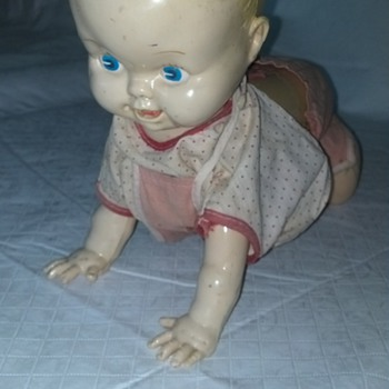 Wind up Crawling Doll