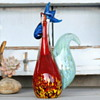 Art Glass Rooster by ???