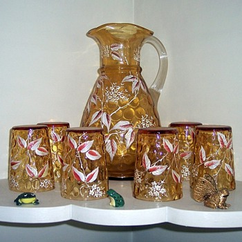 "Victorian ""Lemonade Set""  - Art Glass"