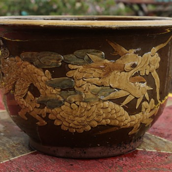 Large Dragon Planter