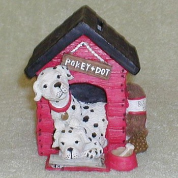 "Dalmatian ""Pokey & Dot"" Ceramic Bank - Coin Operated"