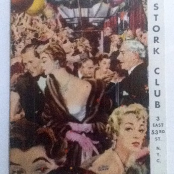 Stork Club Menu - Paper