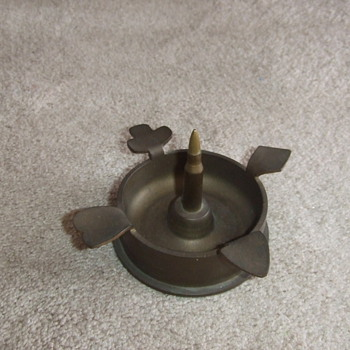 WW2 trench art ashtray with Japanese shell base