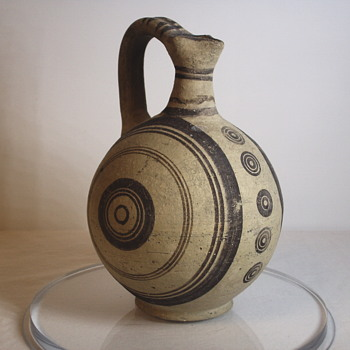 "Oversea Pottery,Water Pitcher ??"" Age unknown - Art Pottery"