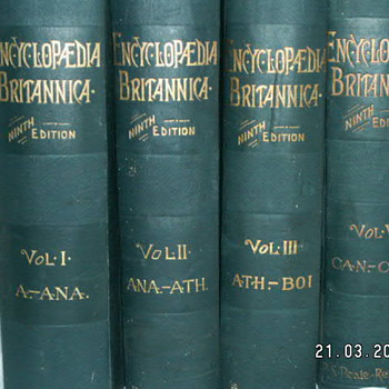 1890 Encyclopedia Britannica 9th Edition - Volumes: I, II, III, V